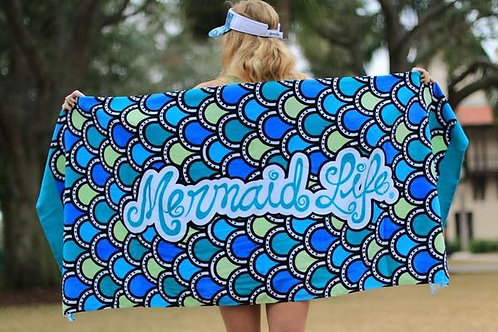 Mermaid Life Beach Towel