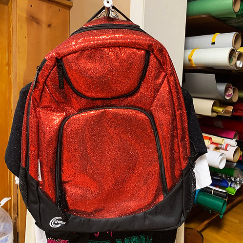 Red Glitter Backpack
