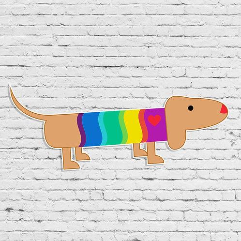 Weiner Dog Decal