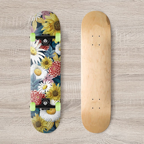 Floral Skateboard Wrap