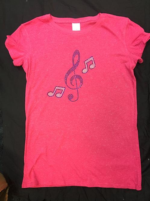 Rhinestone Music Shirt