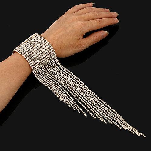 Rhinestoned Tassel Bracelet