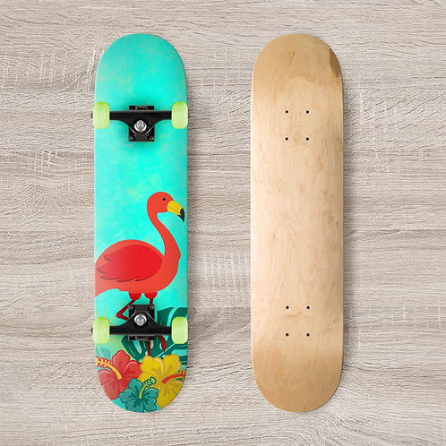 Flamingo Skateboard Wrap