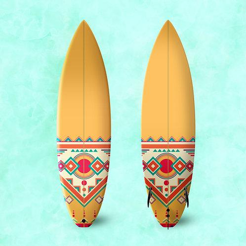 Tribal Surf Board Wrap