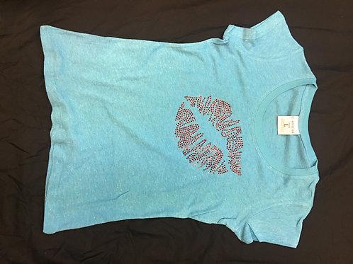 Rhinestone Lip Shirt