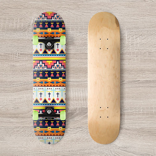Tribal Skateboard Wrap
