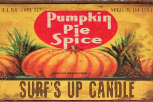 Pumpkin Pie Spice All Natural Soy Candle 160z