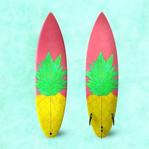 Pineapple Surf Board Wrap