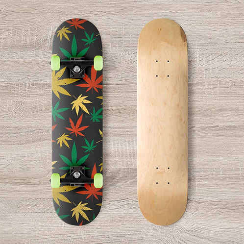 High Leaves Skateboard Wrap