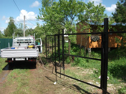 забор из сетки-рабицы