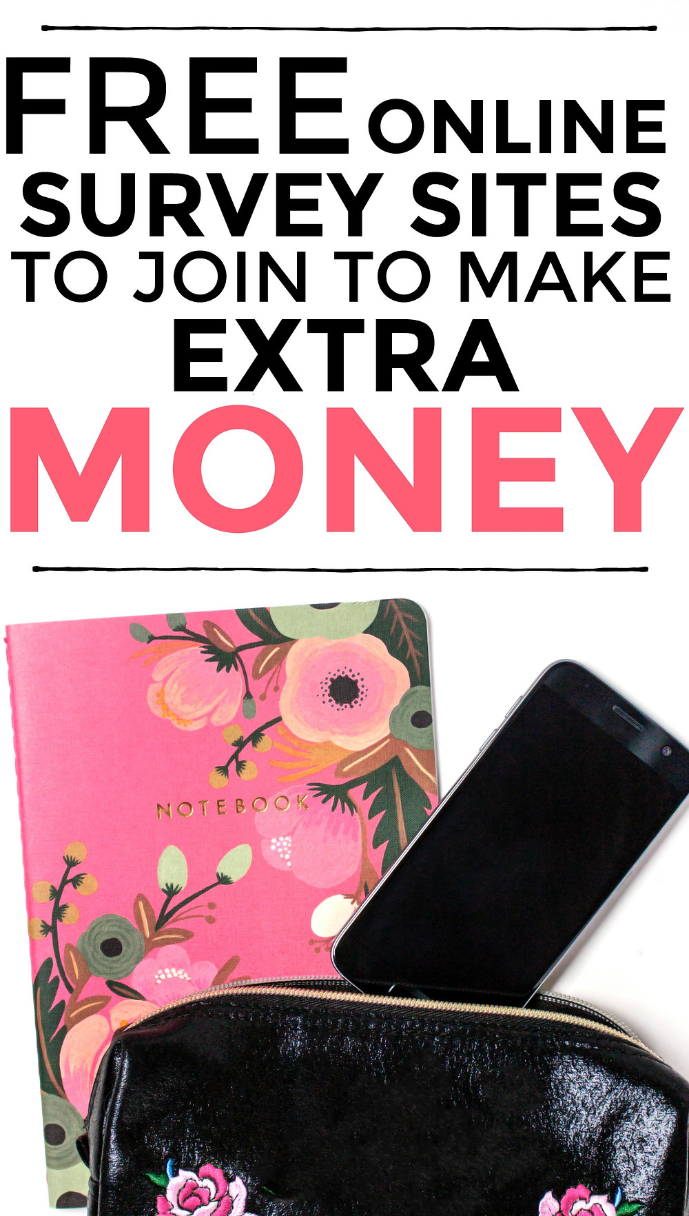 Check out this list of free online survey sites to make extra money. #extramoney