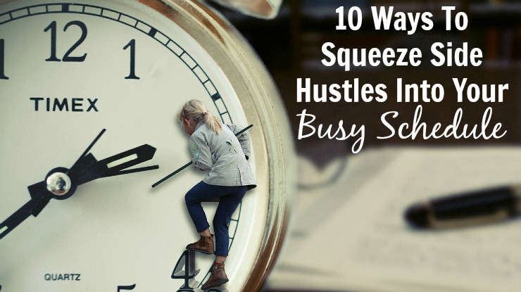 10 Ways To Squeeze Side Hustles Into Your Busy Schedule Clock Picture