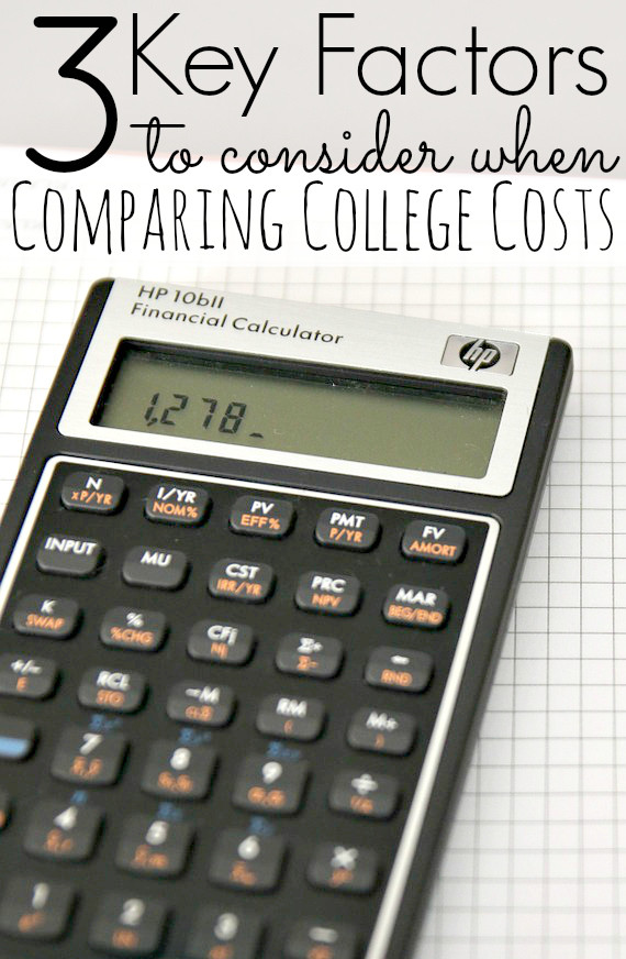3 Key Factors To Consider When Comparing College Costs