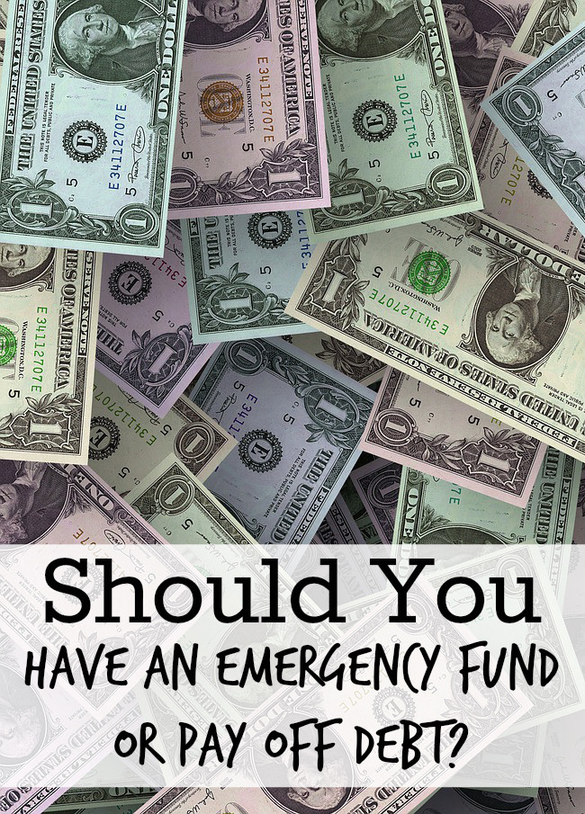 Should You Have An Emergency Fund or Pay off Debt?