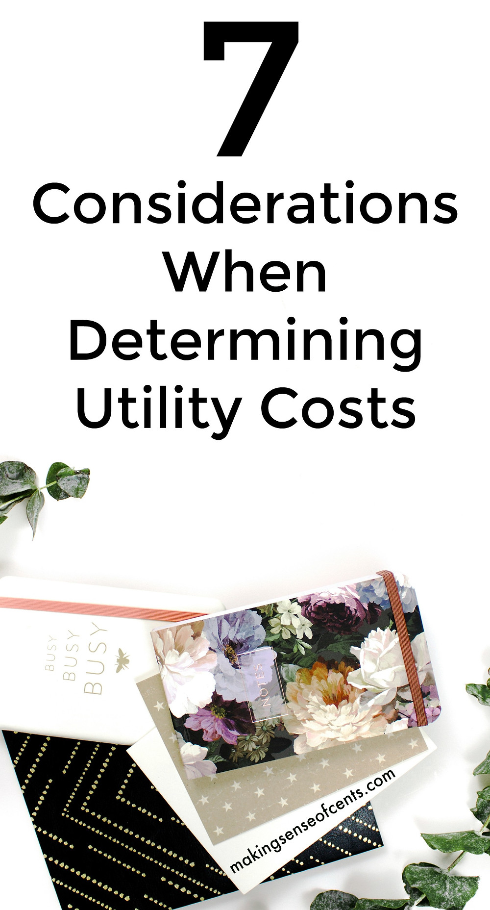Check out this list of 7 considerations when determining utility costs. This is a great list!