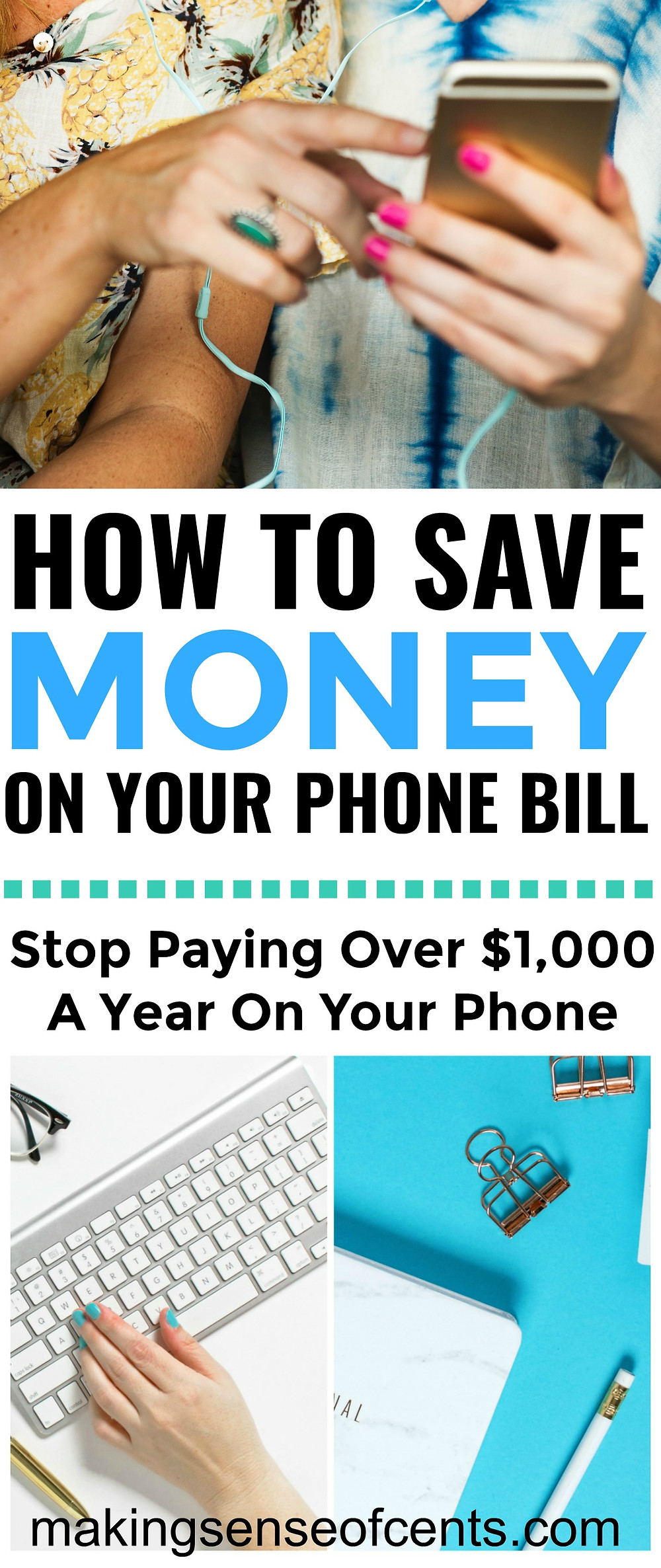 Looking to learn how to save money on your phone bill? Your cell phone bill is probably one of the largest bills that you pay each month. Cell phone bills can easily cost over $100 per month, and if you have a family, then you may even be paying a few hundred dollars per month. #savemoneyonyourphonebill #savemoney #waystosavemoney