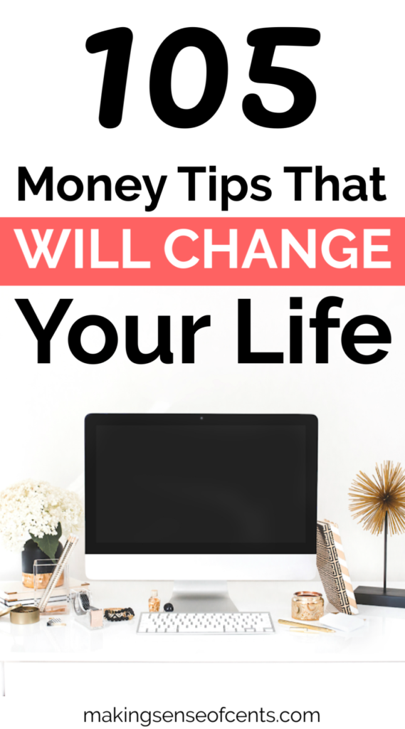 105 Money Tips That Will Change Your Life #moneysavingtips #moneymanagement