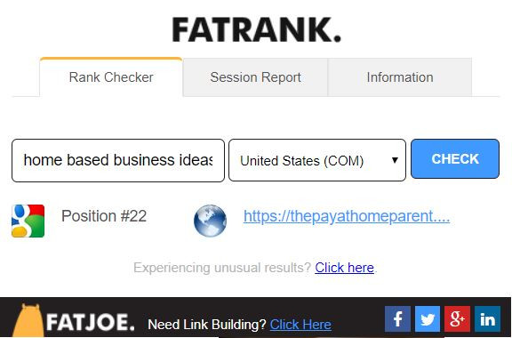 home based business ideas Fat Rank