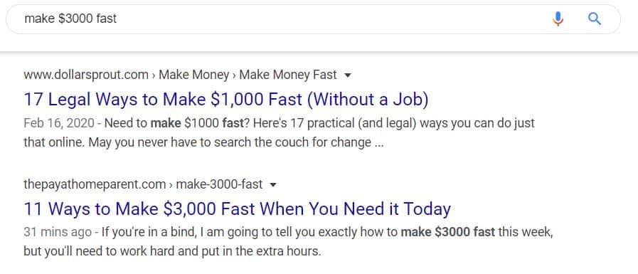 make $3000 fast