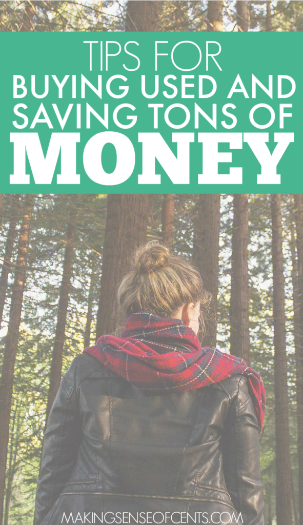 Buying used clothing and other items can be a great way to save money. Next time you have something on your list to purchase, try finding it used first!
