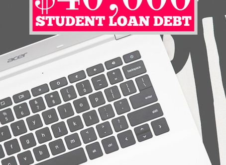How Blogging Paid Off My Student Loans