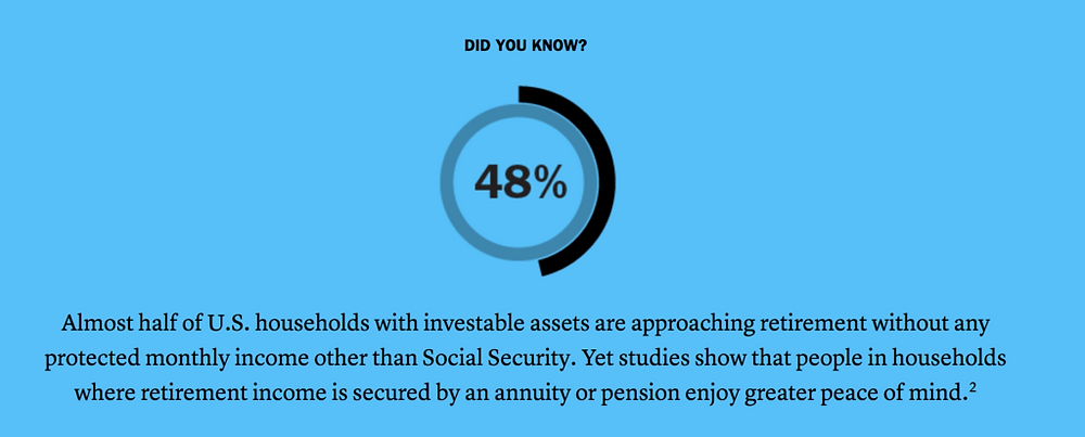 The importance of lifetime income and annuity