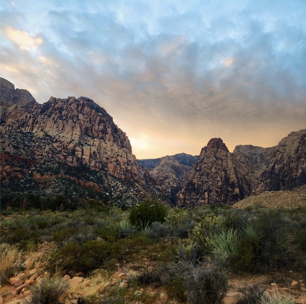 Red Rock Canyon Sunset Picture