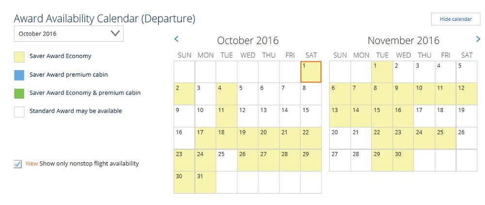 United 2 month calendar