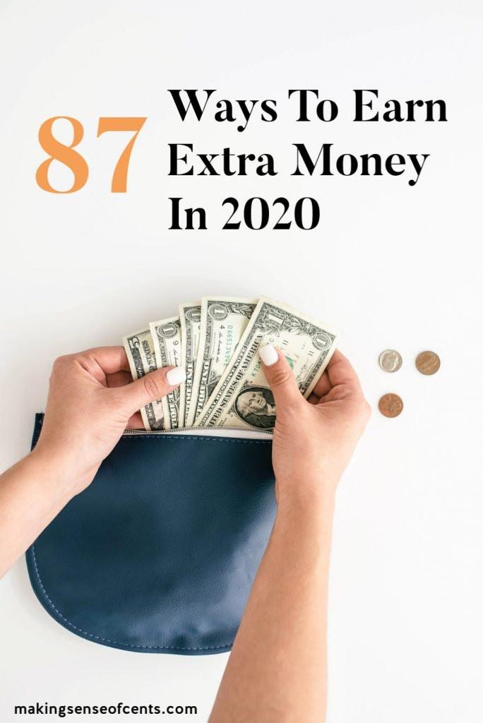 80+ Ways To Earn Extra Money In 2020! #earnextramoney #howtomakeextramoney #extraincome