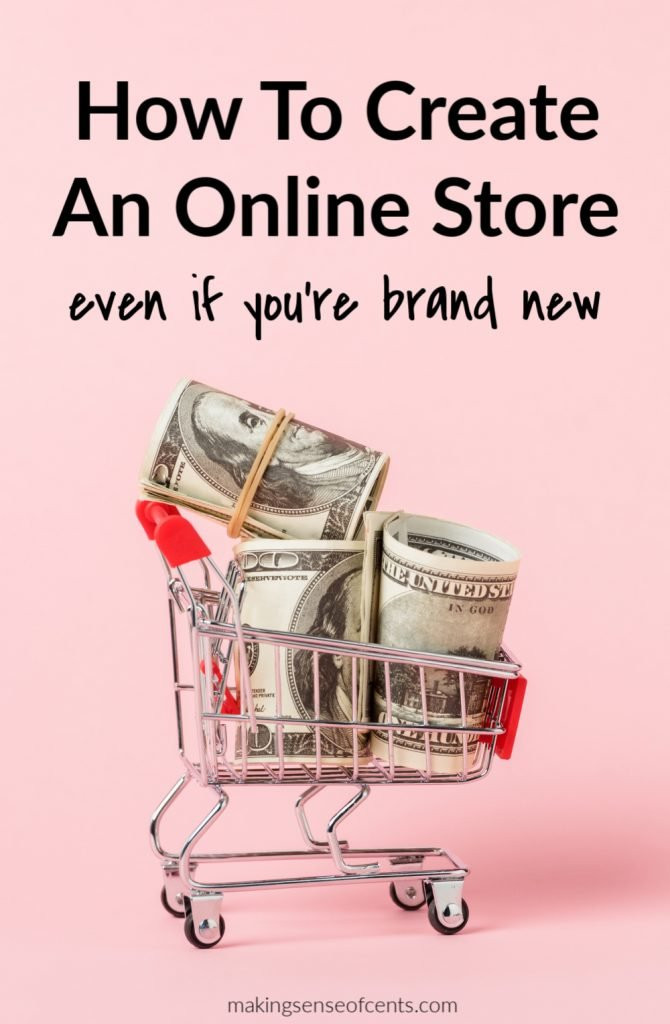online shopping cart with cash inside