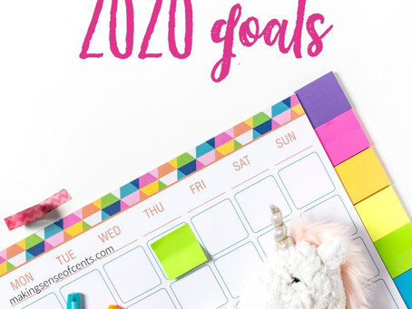 Setting 2020 Goals- Let's make this year the best!