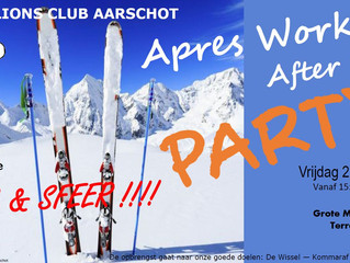 Zet de eindejaarsperiode knallend in en kom naar onze après work / after ski party !!