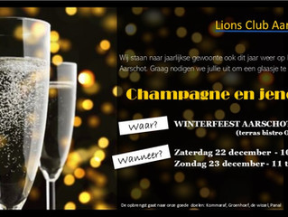 Champagne bar op winterfeest Aarschot