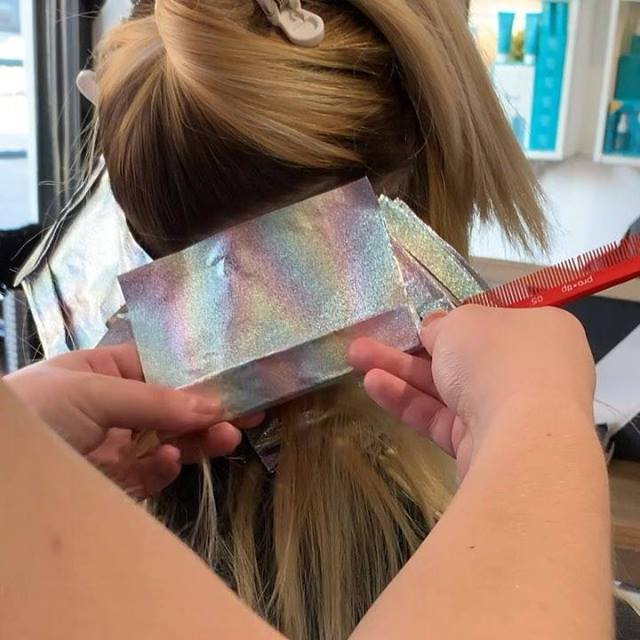 Overlapping. At Ritzys, we ensure your hair condition is number one priority during our colour service. We try to avoid overlapping the bleach, zapping just and only your regrowth hairs with the bleach. This will avoid bleach going onto the ALREADY p