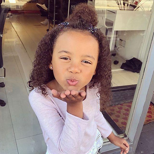 This little diva rocking her fresh curls