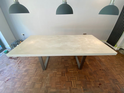 Bespoke concrete dining table