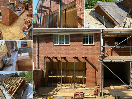 Double story side extension & bifold installation