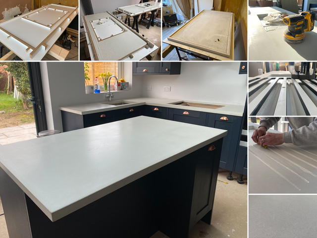Bespoke concrete worktop