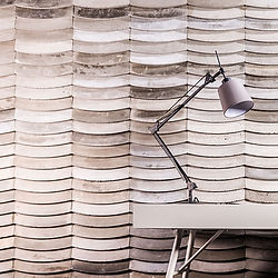 Wave wall tiles. Modern decor feature wall inspired by nature