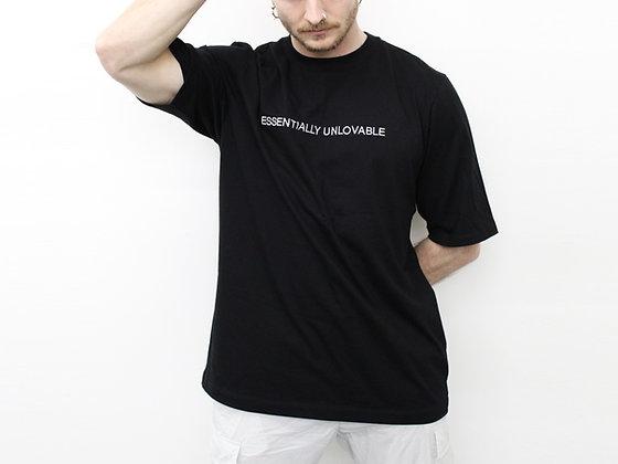 T-shirt ESSENTIALLY UNLOVABLE black