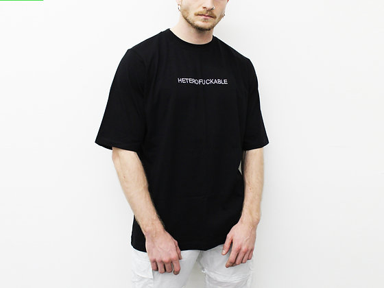 T-shirt HETERO-F black