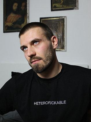 HETEROFUCKABLE black t-shirt