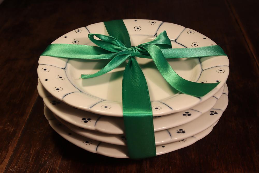 Babiččin dezertní talíř - set 4 talířů