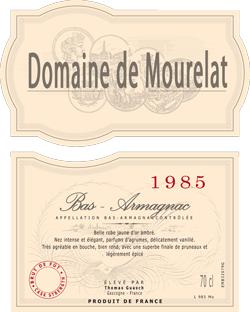 1985 - Domaine de Mourelat