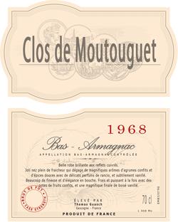 Clos de Moutouguet 1968