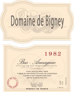 1982 - Dom. de Bigney