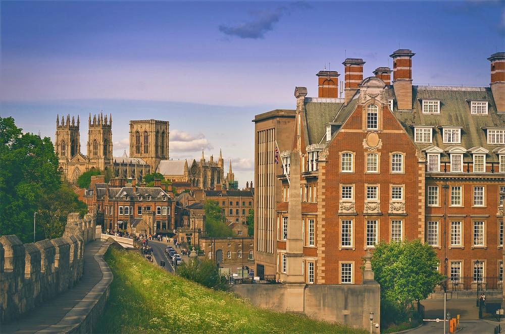 York England medieval walls minster