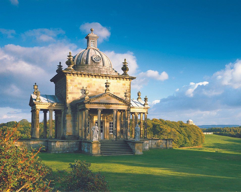 castle howard, temple of the four winds, yorkshire, england