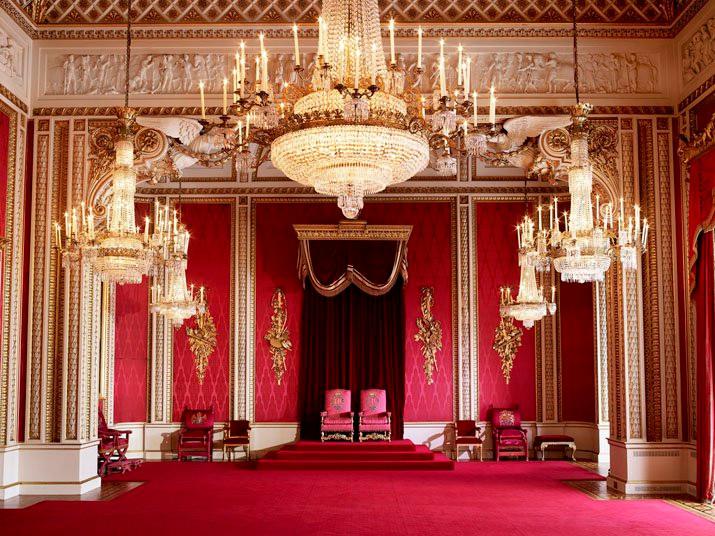 Throne Room Buckingham Palace London