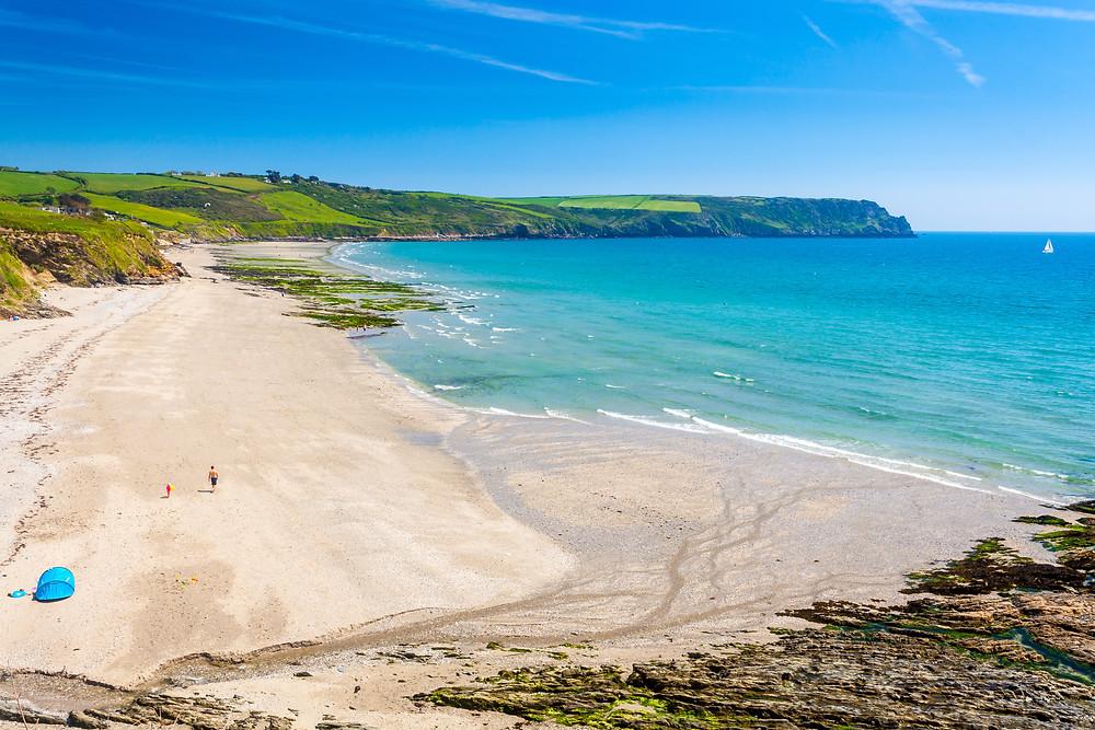 Cornwall, Roseland Peninsula, beaches, road trip, Britain
